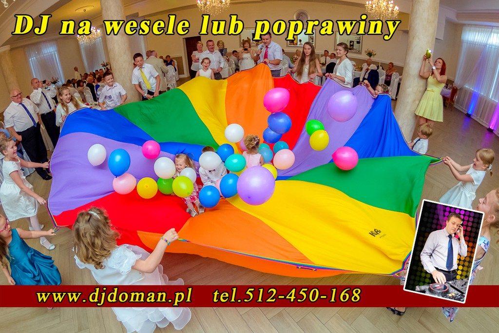 zabawy dla dzieci na weselu wodzirej